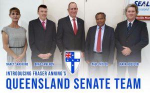 Fraser Anning's Queensland Senate team