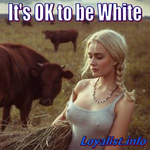 Ok To Be White, young woman in field, 900x900
