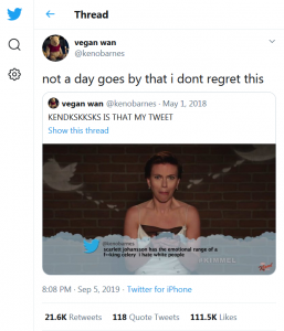 Twitter, Kenobarnes, 2019-09-05 not a day