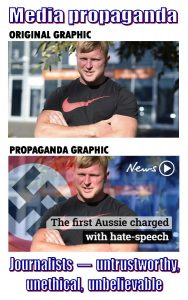 The difference between Blair Cottrell in real life vs. the image in the hit piece video is massive