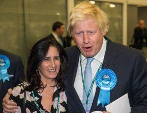Boris Johnson and his half-Indian wife, Marina Wheeler