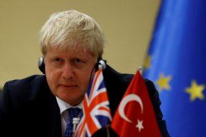 Boris Johnson with flags, 600x400