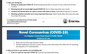 An extract from a government warning re. the Coronavirus (Los Angeles)