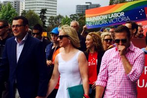 Daniel Andrews at Melbourne Pride March, 600x400