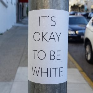 Ok To Be White, sign on pole, 900x900