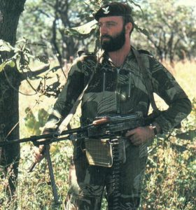A member of the Selous Scouts (special forces regiment of the Rhodesian Army)