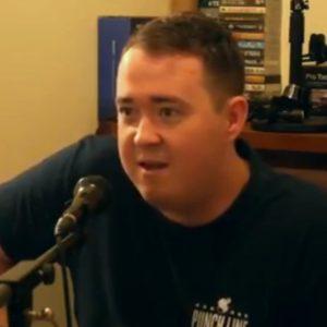Shane Gillis at microphone, 630x630